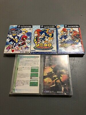 Lot 5 Nintendo GameCube Japan Sonic Heroes Battle Adventure Shadow Games