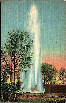 Us Linen Postcard Largest Artesian Well In World Oasis Ranch Roswell New Mexico