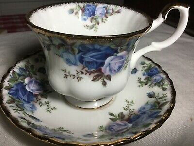 Royal Albert Bone China  Cup And Saucer England.   1987 Moonlight Rose Pattern