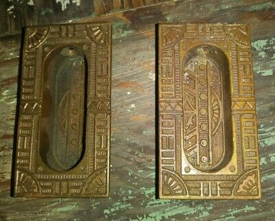 Vintage Antique Brass Window Sash Lift Pull Original Victorian Hardware Eastlake