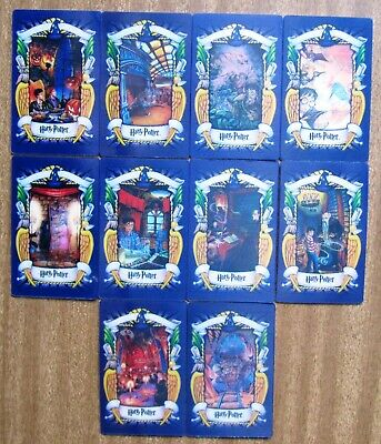 2001  Chocolate Frog Lenticular Cards:  HARRY  POTTER  (Lot of 11)