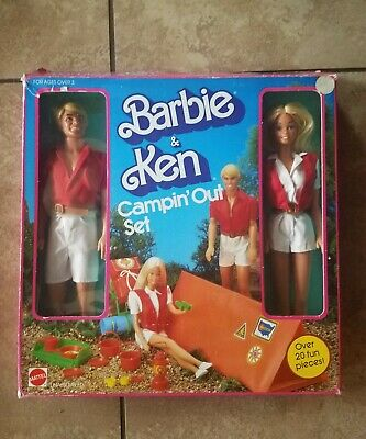 Campin Out Barbie and Ken Giftset 2008 Doll