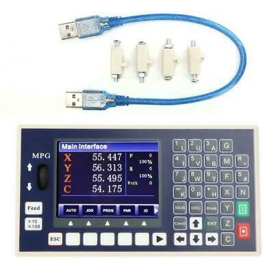 3 5INCH X-Y-Z-C 4 Axis Color LCD CNC Motion Controller RS485 I/O PLC