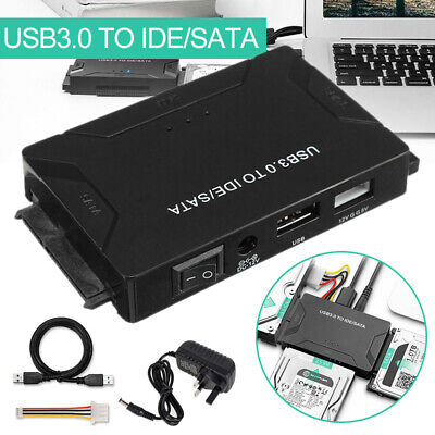 "USB 3.0 to 2.5'' 3.5"" IDE SATA External Hard Drive Adapter Cable Kit Converter"