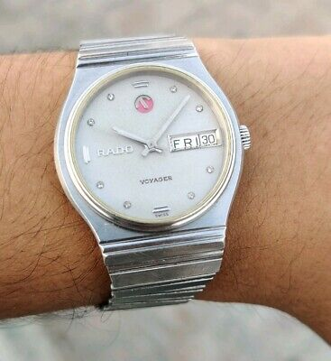 Vintage Rado Voyager Automatic Movement No. 2836 Swiss Made Men's Watch.