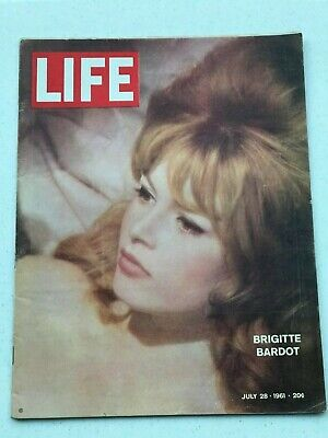 Life Magazine July 281961 With Brigitte Bardot On Cover 888