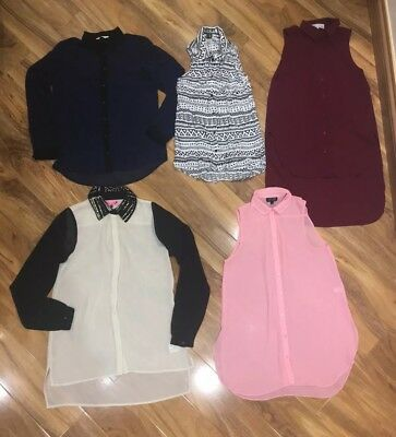 Blouse Bundle Size 8 Topshop Cameo Rose New Look H&M Vgc