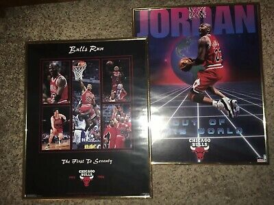 MICHAEL JORDAN VINTAGE Poster Chicago Bulls Its The Drive