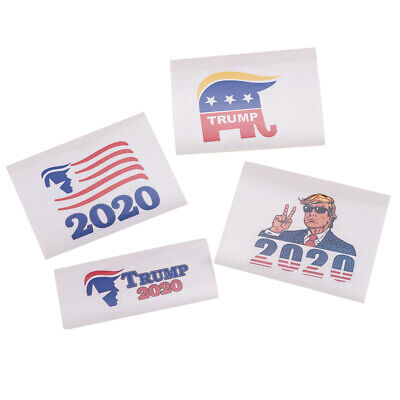 4Pcs MAGA President Donald Trump USA 2020 Car Window Decal Sticker Laptop Bumper