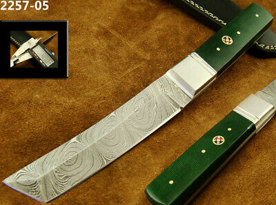 "9.4"" Superb Handmade Damascus Steel Skinning/ Hunting/ Tanto Knife Top! (2257-05"