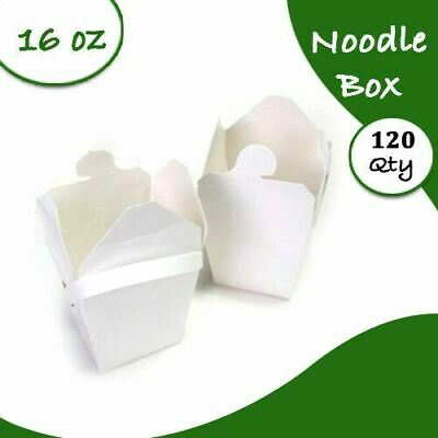 Bulk Packs White Noodle Boxes Cardboard 16 Oz 120 pc Medium Party-Sydney Only