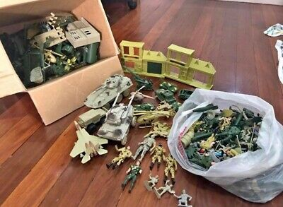 Bulk Army Toys Soldiers, Planes, Tanks, Jets, Buildings & Accessories