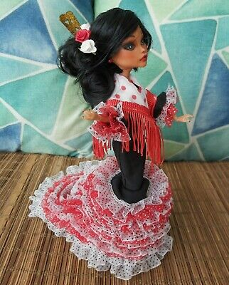Stunning OOAK Spanish flamenco dancer repaint custom bdj MONSTER HIGH doll