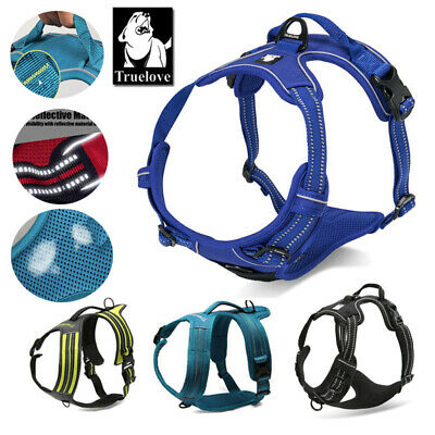 Genuine Truelove Dog Harness No-Pull Strong Adjustable 3M Reflective XS S M L XL