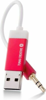 TUNAI Firefly Bluetooth Receiver: World's Smallest Wireless Car Pack, Red