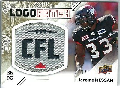 2018 Upper Deck CFL Logo Patch CFL-JM JEROME MESSAM TRUE 1/1
