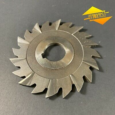 """*As New* Gbm Hs 4"""" X 3/16"""" X 1"""" Side Mill Cutter Slot Metal Work Straight"""