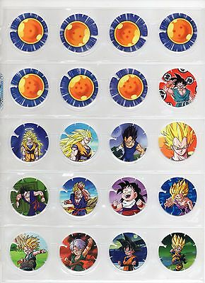 DRAGON BALL Z QUAKER Coleccion Completa 30 tazos Cartas Cromos Complete Set Pogs