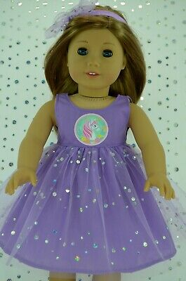 "Dolls Clothes For 18""American Girl~Our Generation~Journey SEQUIN DRESS~HEADBAND"