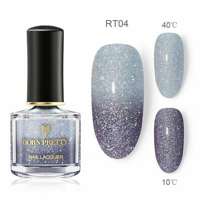 BORN PRETTY 6ml Holo Thermal Color Changing Nail Polish Nail Art Varnish #4