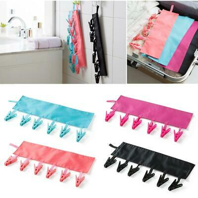 3pcs Hanger Socks Underwear Clothes Clip Foldable Travel Bathroom Rack Peg Home