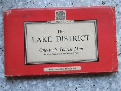 Ordnance Survey One-Inch Tourist The Lake District.Cloth.