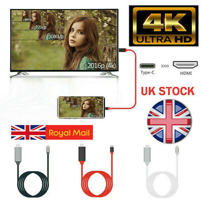 4K USB-C Type C to HDMI HDTV Adapter Cable For Huawei Samsung Macbook Xiaomi HTC