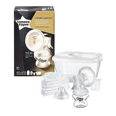 New Manual Brest Pump Baby Feeding Travel Compact Tommee Tippee Bpa Free Best