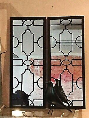 PAIR set  HAMPTON or french provincial style black wall MIRROR   NEW