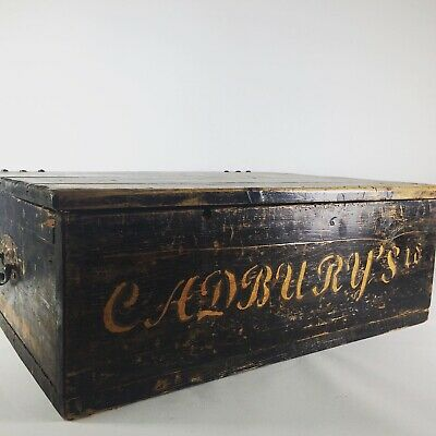 vintage Cadburys chocolate Advertising Crate Box Antique rustic coffee table
