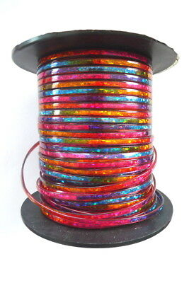 50 Feet BRITELACE Tie Dye Plastic Cord Red Blue Sparkle Pepperell Crafts