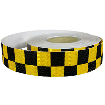 1M Reflective Safety Warning Conspicuity Tape Sticker, Black+yellow E1F8