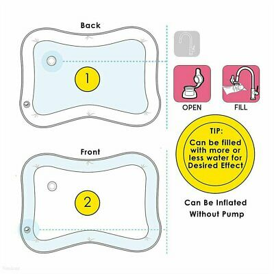 Inflatable Water Play Mat For Baby Infant Toddlers Mattress Best Fun Time #S