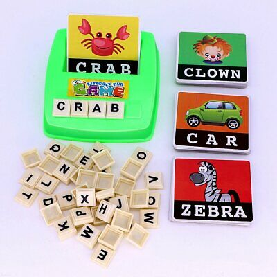Literacy Scrabbler Early Education Puzzle Toys Gift #S