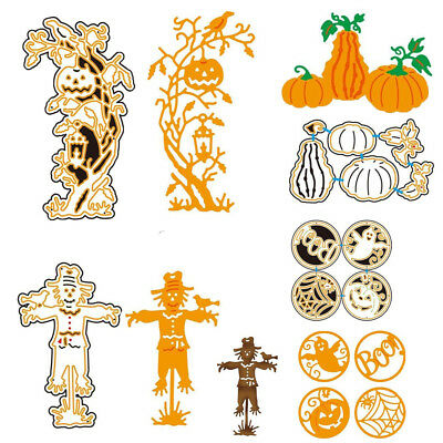 Halloween Witch Pumpkin For DIY Greeting Card Metal Embossing Cutting Dies #S