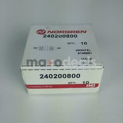 Norgren 240200800 Fitting Sealed Factory Packing (10 Pieces)