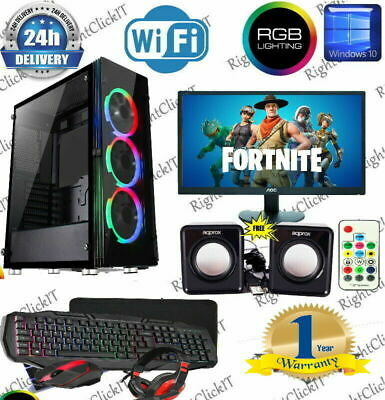 ULTRA FAST i3 i5 i7 Desktop Gaming Computer PC 2TB + SSD 16GB RAM GTX 1660 Win10