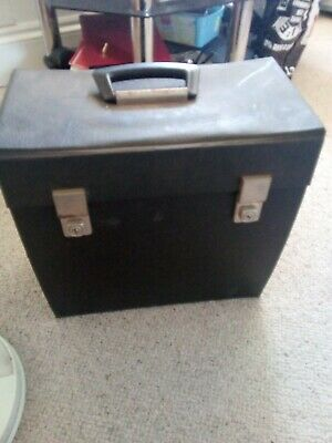 "1960's/70's RETRO/VINTAGE 12"" LP VINYL RECORD STORAGE/CARRY CASE    Black"