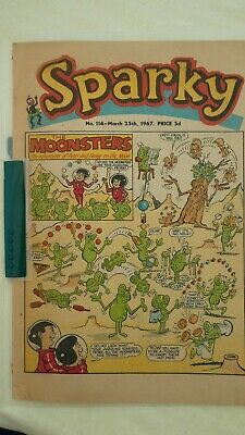Sparky comic No. 114 March 25th, 1967. Price 5d
