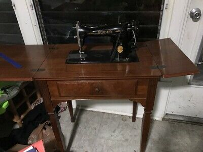 Vintage Singer 15 Sewing Machine, Serviced,