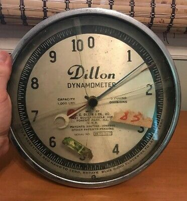 Dillon Dynamometer 1000 lbs Capacity 5 lbs Division Untested As Is