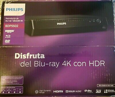 Philips 4K Ultra HD Blu-ray Player BDP5502 - Brand New, Factory Sealed