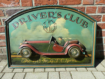Altes englisches MG TC Pubschild MG Drivers's Club