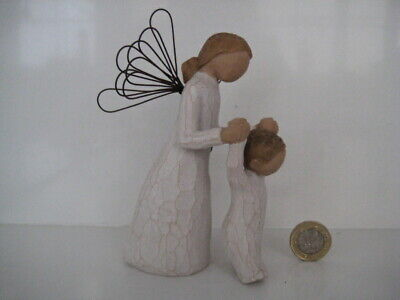 Willow Tree Ornament Figure Double Guardian Angel & Baby Child Sentimental Gift