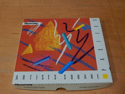 Rowney 24 Artists Square Pastels ~ Slightly Used
