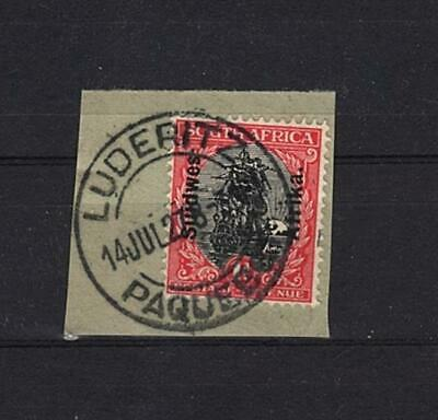 South West Africa Piece Luderitz 14.07.1927 Paquebot