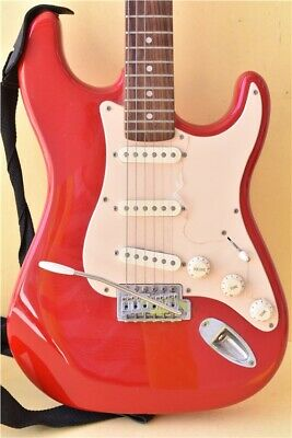 Fender Squier Red  Strat Electric Guitar  with Carry Case and Compact Processor