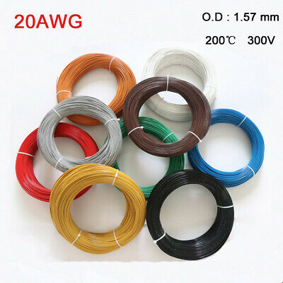 UL1332 Polytetrafluoro 20AWG Stranded Electronic Wire FEP Tinned Copper Cable