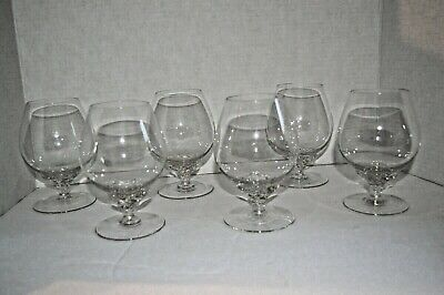 Vintage Crystal with Swirl Base Brandy Snifters Glass Set of 6