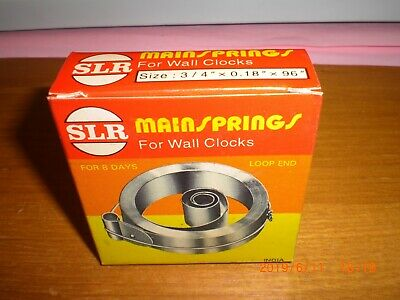 4 x SLR Wall Clock mainspring Loop end for 8 Day clock